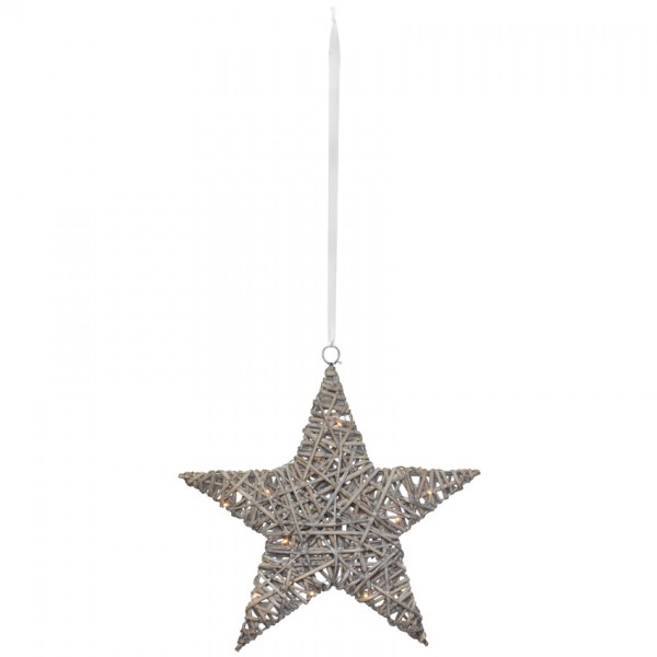 LED-Weihnachtsstern, 10 warmweiße LEDs, Ø 40cm
