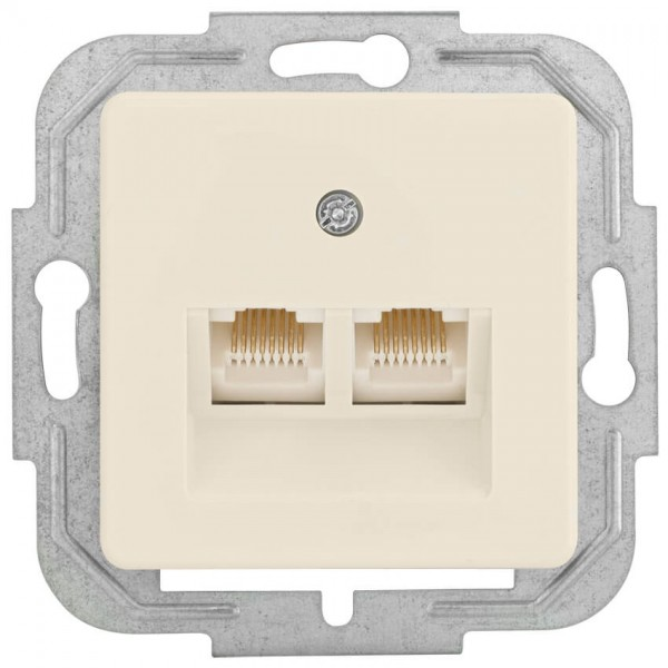 KLEIN®-SI - Telefondosen-Einsatz UAE 2x8 cremeweiß