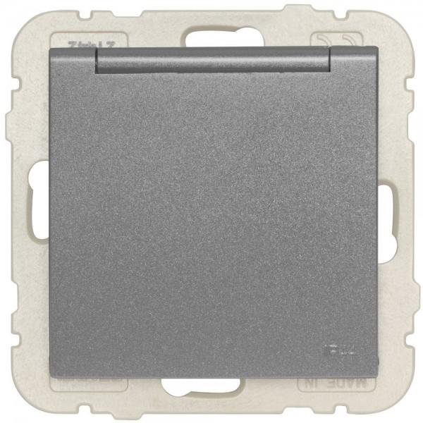 EFAPEL® - Kombi-Steckdose, mit Klappdeckel, LOGUS 90, anthrazit-grau
