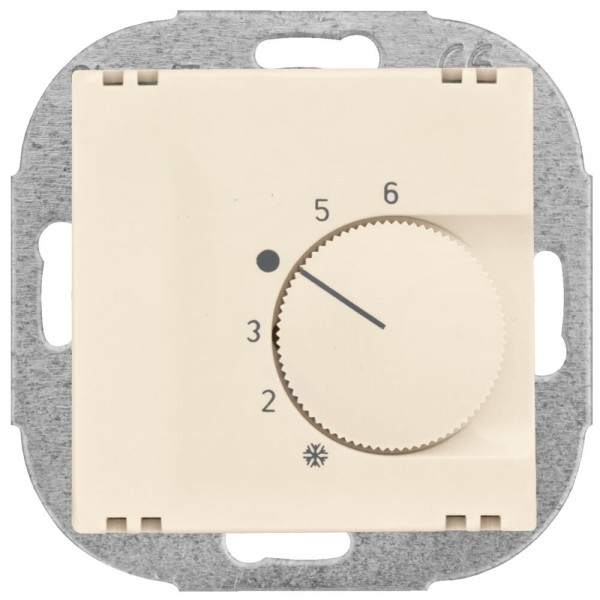 KLEIN® - Kombi-Raumthermostat, Öffner, 10A (4A), +5° bis +30°, mit Zentralplatte 55 x 55 mm, weiß