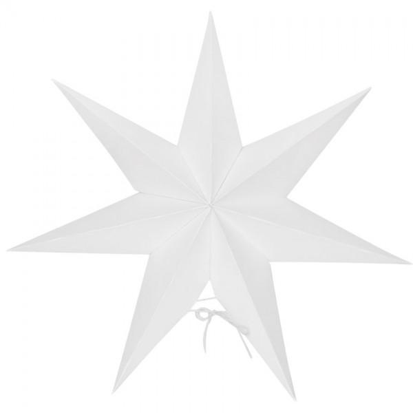 Weihnachtsstern, MALVA, weiß, mit Saugnapf, Ø 35cm, 10 warmweiße LEDs