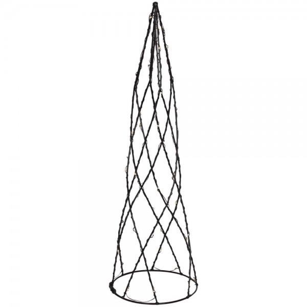 Pyramide, HELIX, H 39cm, Ø 12cm, 42 warmweiße LEDs