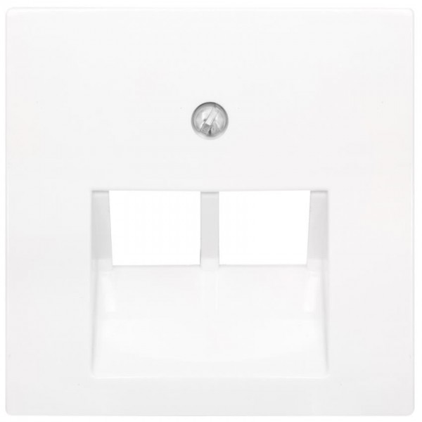 JUNG® - AS - Zentralplatte, für 2-fach-UAE-Steckdose, alpinweiß glänzend