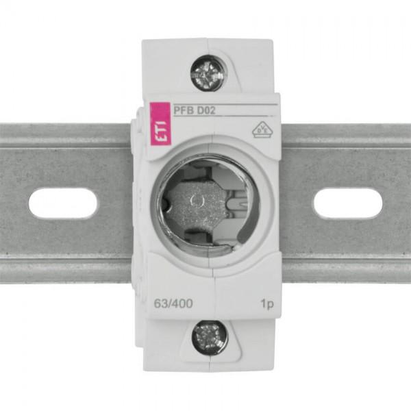 Einbausicherungssockel D01/16A mit Berührungsschutz 3 Stück
