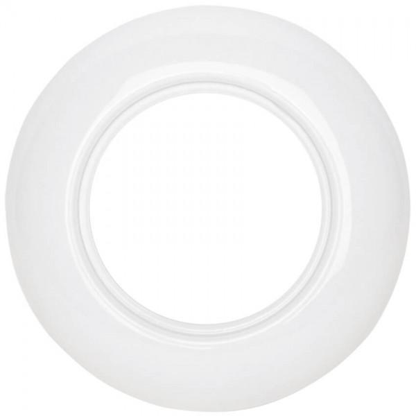 THPG Thomas Hoof - Abdeckrahmen, für Schalter, Steckdosen und Dimmer, Porzellan weiß - 1-fach