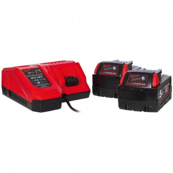 MILWAUKEE® - Akku-Pack-Set, 18V, inkl. 2 Akkus, 1 Ladegerät-M18 NRG-502