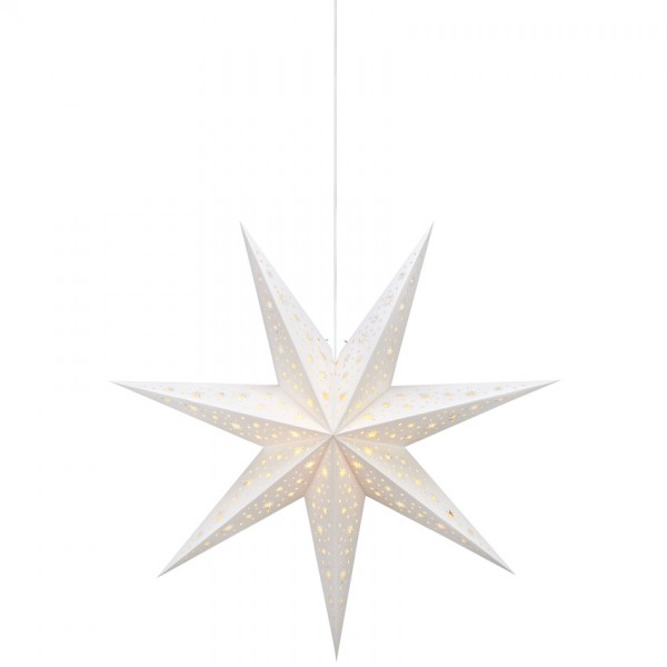 Weihnachtsstern, NANNA, weiß, Ø 75cm, 1 x E14/25W