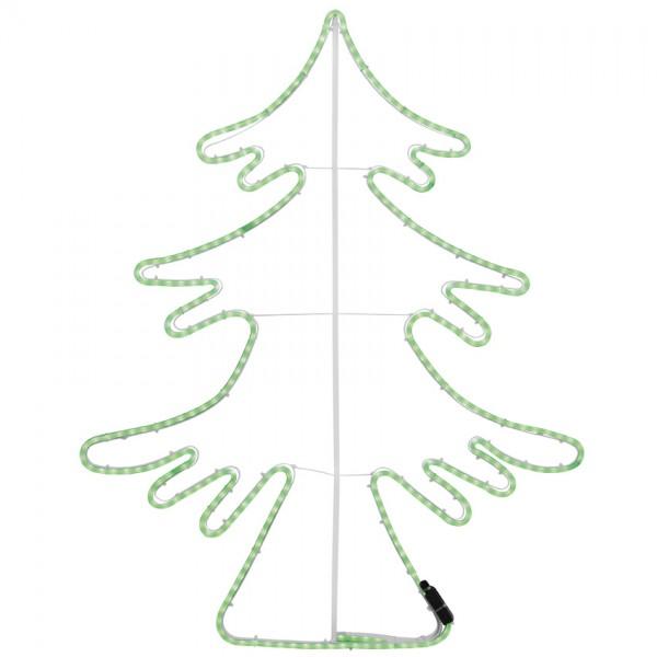LED-Tannenbaum, H 85cm, B 65cm, grüne LEDs