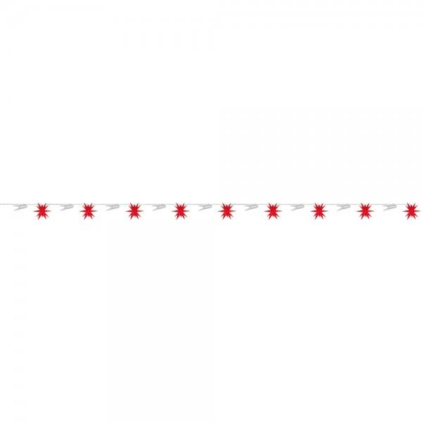 LED-Dekolichterkette, rot, 9 Sterne, Ø 8cm