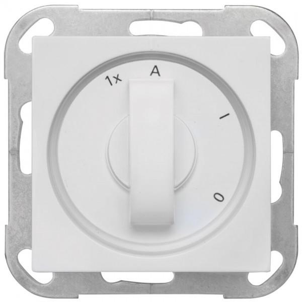 GIRA® - Außenlichtschalter, Zentralplatte System 55, reinweiß