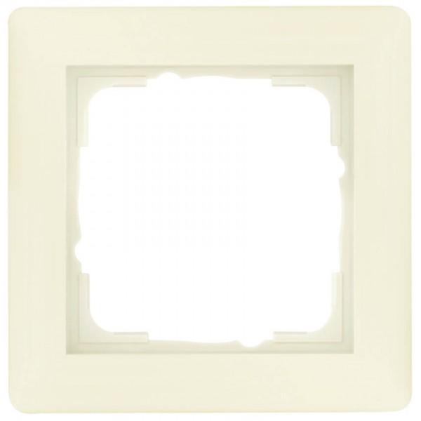 GIRA® - 1-fach Abdeckrahmen, SYSTEM 55, cremeweiß glänzend 021101
