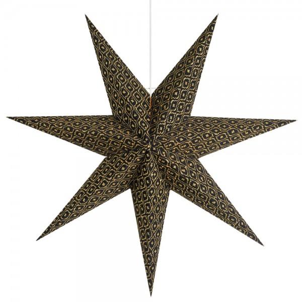 Weihnachtsstern, BAROQUE, hängend, Ø 45cm, schwarz/gold, 1 x E14/25W