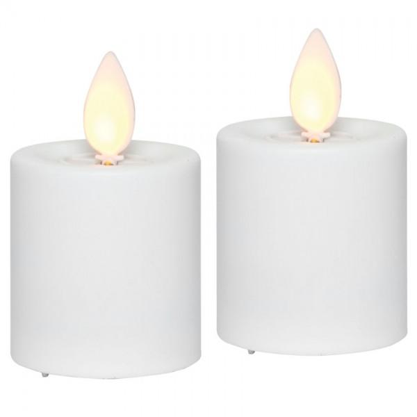 LED-Kerzen, M-TWINKLE, 2er-Set, orange flackernde LED