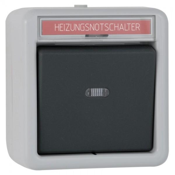GIRA® - Kontroll-Wechsel-Schalter, AP/FR, grau/dunkelgrau-011630