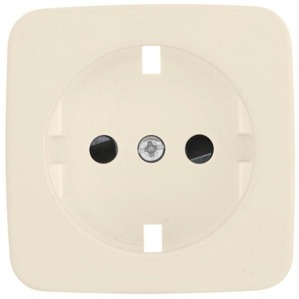 KLEIN®-SI - Ersatzplatte für Kombi-Steckdose mit integriertem Berührungsschutz, cremeweiß