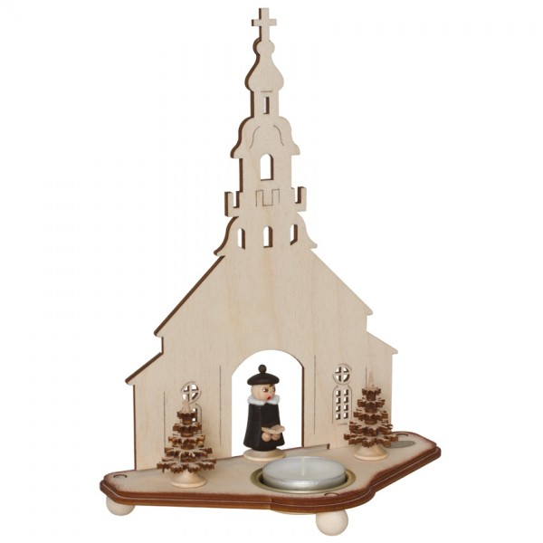 Teelichthalter, Seifener Kirche, für 1 Teelicht