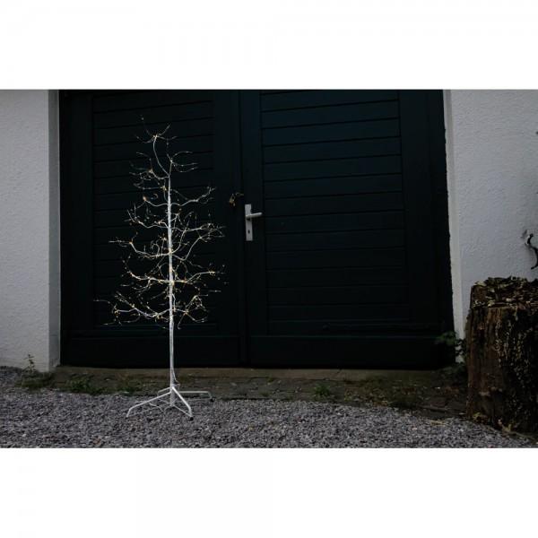 LED-Birke, 510 warmweiße LEDs, H 150cm, Ø 60cm