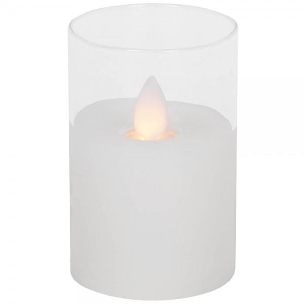 LED-Echtwachskerze, H 7,5cm, Ø 5cm, M-TWINKLE