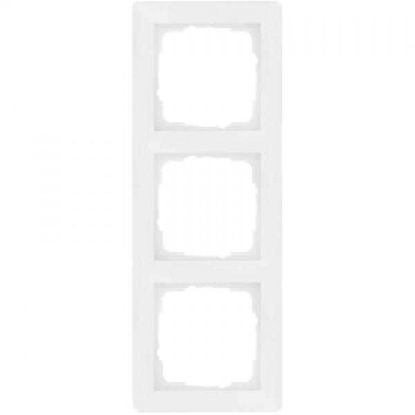 GIRA® - 3-fach Abdeckrahmen, SYSTEM 55, reinweiß glänzend-021303