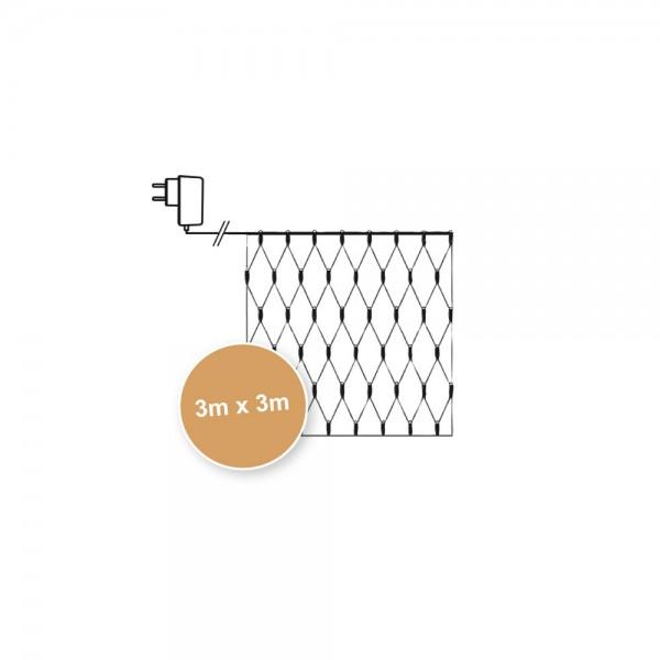 LED-Lichternetz für Pavillions, B 300cm, H 300cm, 200 warmweiße LEDs