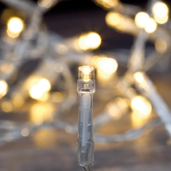 LED-Minilichterkette L 6m, 80 warmweiße LEDs