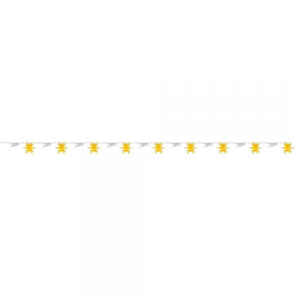 LED-Dekolichterkette, gelb, 9 Sterne, Ø 8cm