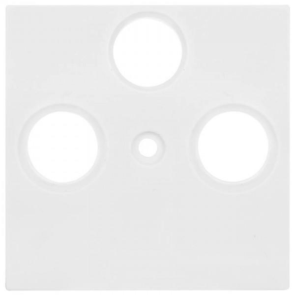 Panasonic® - Zentralplatte, für TV/Radio/SAT- Antennensteckdose, MERIDIAN, reinweiß