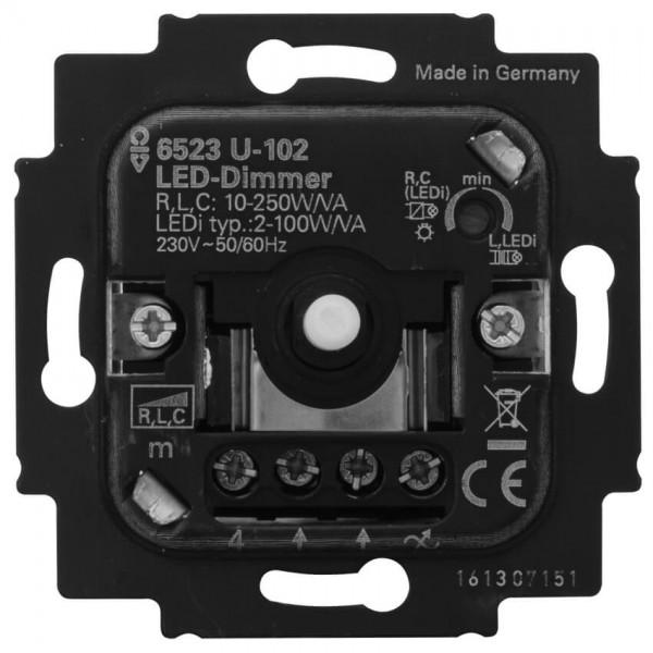 BUSCH-JAEGER® - Unterputz Einsatz - Druck-Wechsel- Dimmereinsatz, LED-Dimmer, 2-100W/VA, Phasenansch