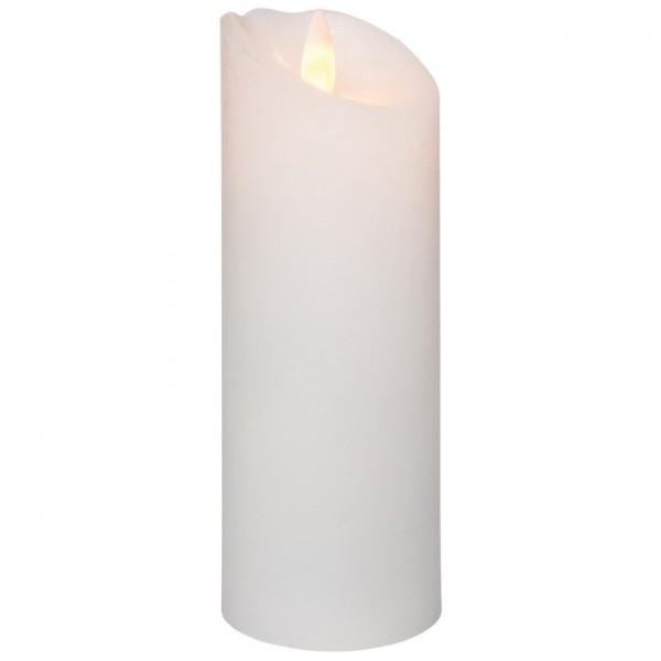 LED-Echtwachskerze, GLOW, 1 orange LED, H 15cm, Ø 5,5cm, batteriebetrieben