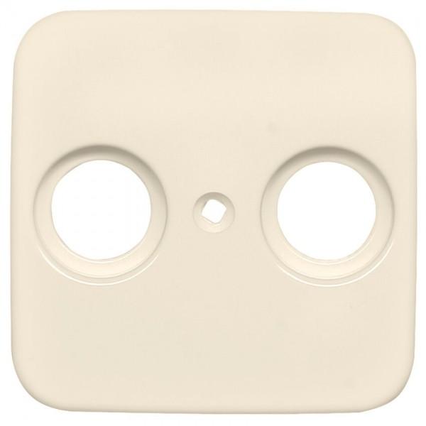 KLEIN®-SI - Zentralplatte für Antennensteckdose cremeweiß