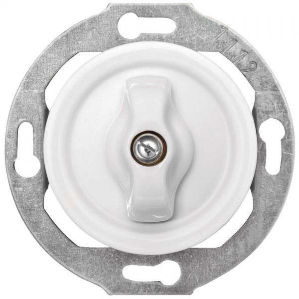 THPG Thomas Hoof - Kombi-UP-Einsatz, Porzellan weiß - Dreh-Aus/Wechsel-Schalter