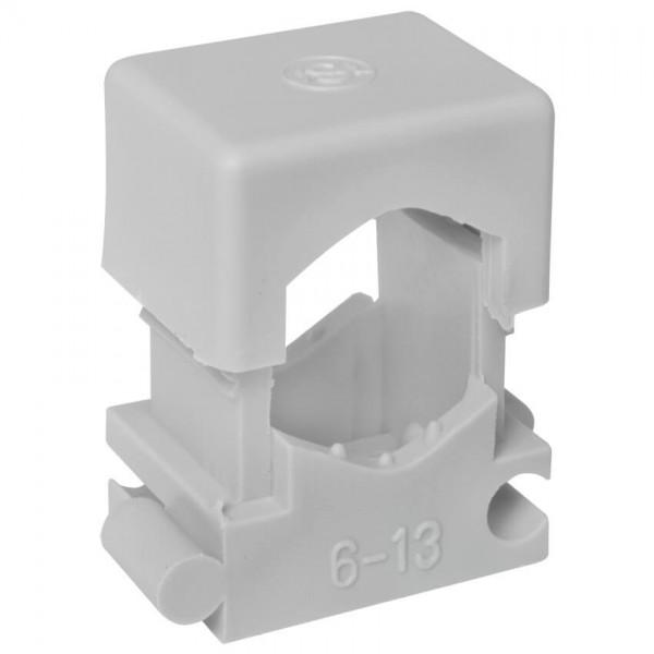 Reihen-Druckschelle, grau, anreihbar, halogenfrei-6 - 13 mm