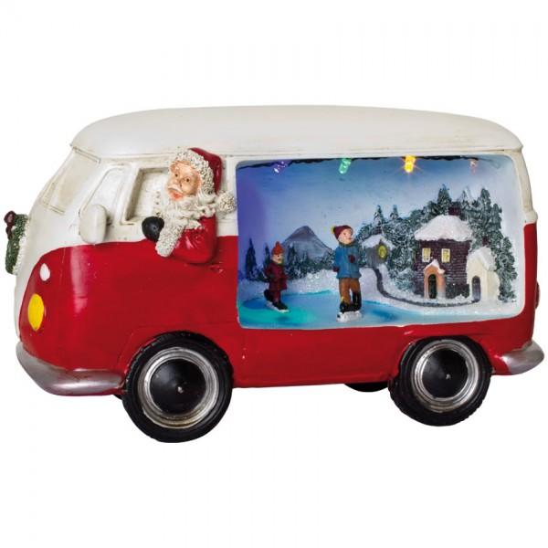 Weihnachtsbus, MERRYVILLE, 4 bunte LEDs