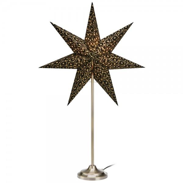 Weihnachtsstern, BAROQUE, stehend, H 62cm, schwarz/gold, 1 x E14/25W