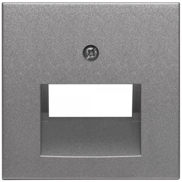 EFAPEL® - Zentralplatte, für 1-2-fach-UAE-Steckdose, LOGUS 90, anthrazit-grau