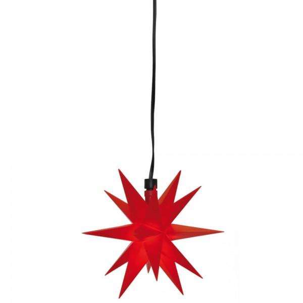 LED-Stern Rot, 1 warmweiße LED, Ø 12cm