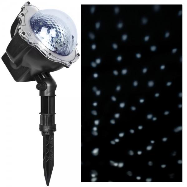 LED-Projektor, mit Schneefalleffekt, Timer und Fernbedienung