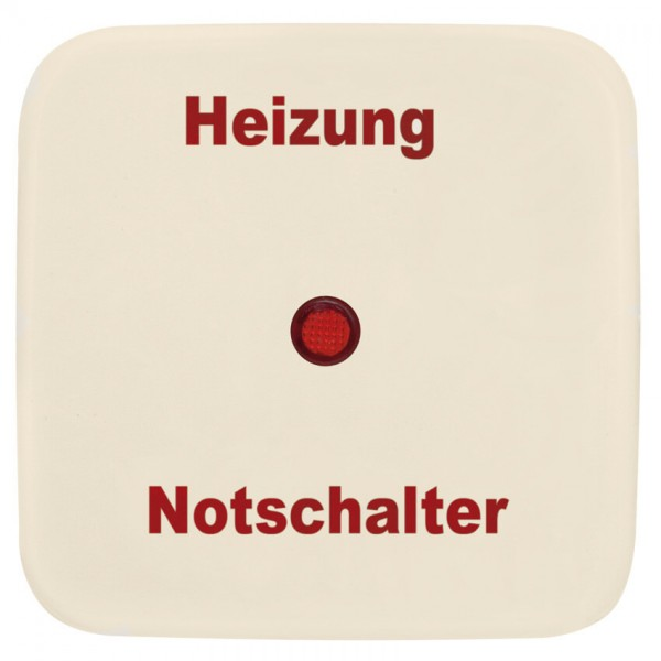 KLEIN®-SI - Einzelwippe cremeweiß Symbol Heizungsnotschalter