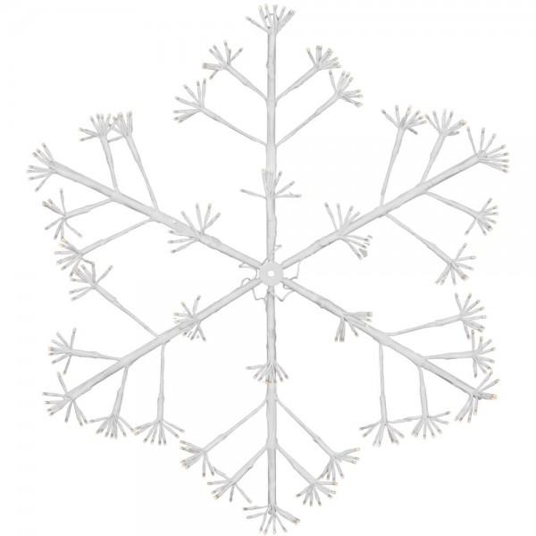LED-Lichtmotiv, Schneeflocke, Ø 80cm, 288 warmweiße LEDs