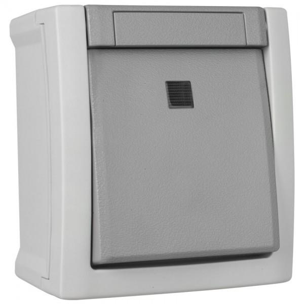 Panasonic® - AP/FR - PACIFIC - grau/dunkelgrau -Taster, Schließer, beleuchtet