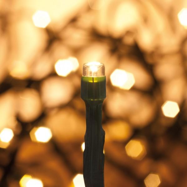 LED-Minilichterkette, 48 warmweiße LEDs, batteriebetrieben, IP44