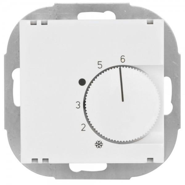 KLEIN® - Kombi-Raumthermostat, Öffner, 10A (4A), +5° bis +30°, Zentralplatte 55 x 55 mm, reinweiß