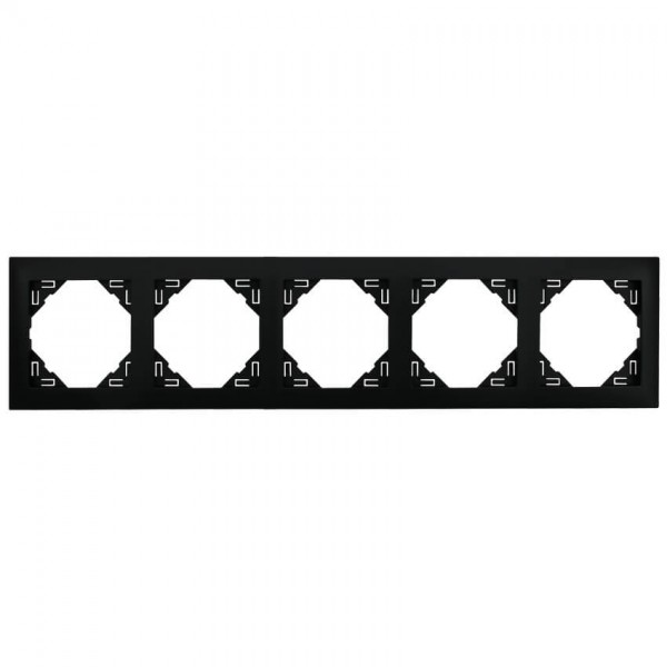EFAPEL® - 5-fach Abdeckrahmen, LOGUS 90, schwarz matt