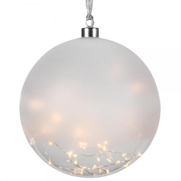 Glaskugel, GLOW, Ø 20cm, 50 warmweiße LEDs, 230V