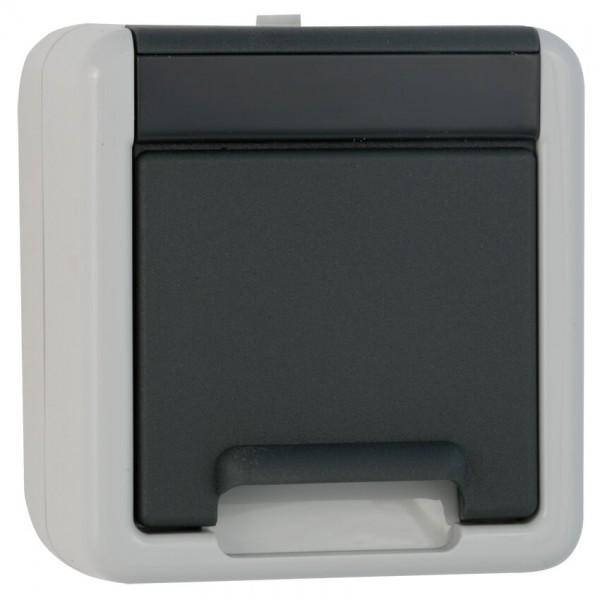 GIRA® - Steckdose, 1-fach, AP/FR, grau/dunkelgrau-044030