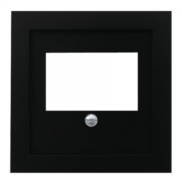 EFAPEL® - Zentralplatte, für 1-3-fach-TAE-Steckdose, LOGUS 90, schwarz matt