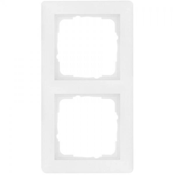 GIRA® - 2-fach Abdeckrahmen, SYSTEM 55, reinweiß glänzend-021203