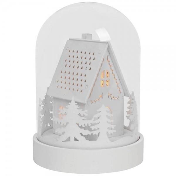 LED-Glocke, KUPOL, Motiv Haus, 3 warmweiße LEDs