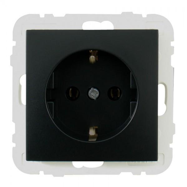 EFAPEL® - Kombi-Steckdose, LOGUS 90, schwarz matt