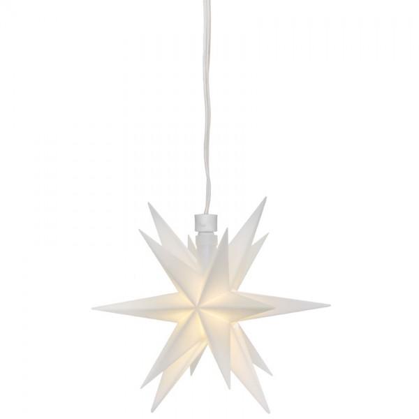 LED-Stern, weiß, 1 warmweiße LED, mit Batteriebox, Ø 120